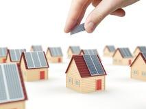 Installazione del pannello solare Fotografia Stock Libera da Diritti