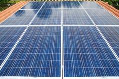 Installazione del pannello solare Immagini Stock