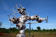 Installazione del pozzo di petrolio Fotografie Stock Libere da Diritti
