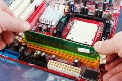 Installazione del RAM Fotografie Stock Libere da Diritti