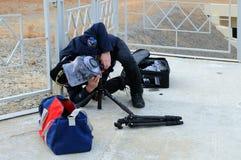 Installazione della macchina fotografica a distanza Fotografia Stock Libera da Diritti