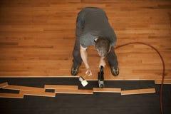Installazione della pavimentazione Fotografia Stock Libera da Diritti
