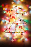 Installazione di concetto dell'albero del nuovo anno di Natale Fotografia Stock