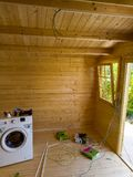 Installazione elettrica di una cabina immagine stock