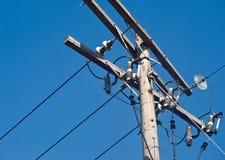 Installazione elettrica difficile Fotografie Stock Libere da Diritti