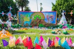 Installazione messicana tradizionale dell'altare Fotografia Stock Libera da Diritti