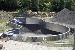Installazione su ordinazione della piscina Immagine Stock Libera da Diritti