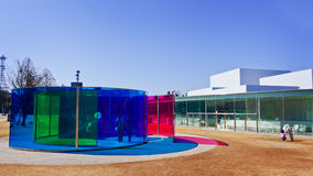 Installazioni del museo di arte contemporanea del XXI secolo Immagine Stock Libera da Diritti