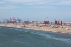 Installazioni del porto di Port Said Immagine Stock
