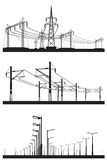 Installazioni elettriche messe Immagini Stock