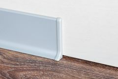 Installed skirting on the wall Royalty Free Stock Photography