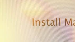 Installeer Mac Os X op Apple-MacOs op iMaccomputers stock videobeelden