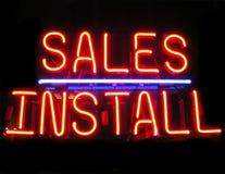 installera försäljningar royaltyfri fotografi