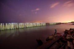 Installi la macchina fotografica per prendere la foto del mare Fotografie Stock