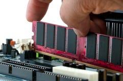 Installieren von RAM Stockfotos