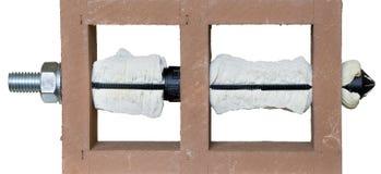Installierter chemischer Anker Stockfotos