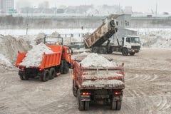 Installierung des Schneeschmelzens Lizenzfreies Stockbild