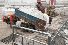 Installierung des Schneeschmelzens Lizenzfreie Stockbilder