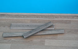 Installing the baseboard Stock Photography