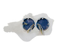 Installing double electrical socket box. Attaches to the wall so Royalty Free Stock Photo