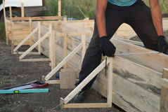 Installing the formwork Royalty Free Stock Photography