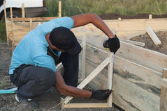 Installing the formwork Royalty Free Stock Photo