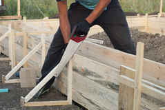 Installing the formwork Stock Photography