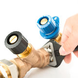 Installing a heating system Stock Photos