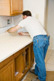 Installing Kitchen Counter Royalty Free Stock Photography