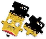 Installing memory Stock Photo