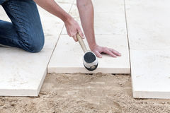 Installing new pavement royalty free stock images