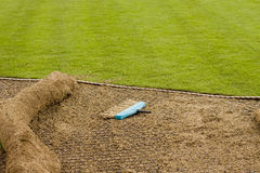 Installing New Sod Stock Image