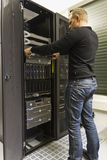 Installing Rack Server Royalty Free Stock Photos