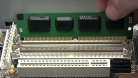 Installing RAM stock footage