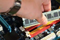 Installing RAM computer memory Stock Photography