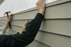 Installing Siding on a House Stock Images