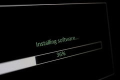 Installing software Royalty Free Stock Photo