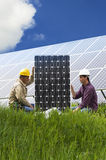 Installing Solar Panels Stock Images