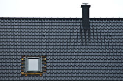 Free Installing Window In Tiled Roof Stock Photography - 59253402