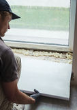 Installing window sill Royalty Free Stock Photos
