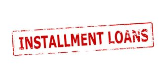 Installment loans. Rubber stamp with text installment loans inside,  illustration Stock Photo