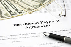 Installment payment agreement Stock Photo