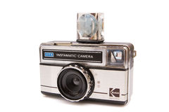 Instamatic Camera. Old kodak instamatic camera isolated on white Royalty Free Stock Image