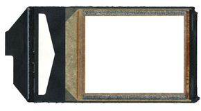 Instamatic Film Border with Black Pull Tab. The border from a piece of instant Polaroid film Stock Photography