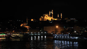Instanbul night city view, Turkey Royalty Free Stock Photography