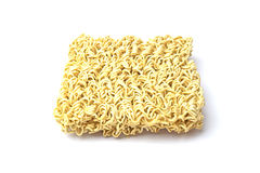 Instance noodle on white background. Stock Photos