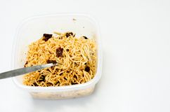 Instand noodle, it's meal of office man Stock Image