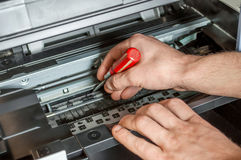 Instandhaltung des Druckers Lizenzfreies Stockbild
