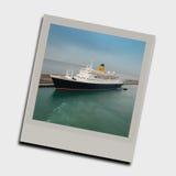 Instantâneo do navio de cruzeiros foto de stock