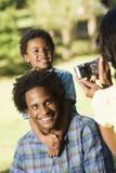Instantâneos da família. Imagem de Stock